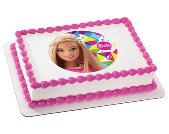 Barbie Sparkle Edible Cake or Cupcake Toppers - Choose Your Size