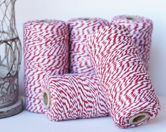 Baker's Twine 100 yards red/white