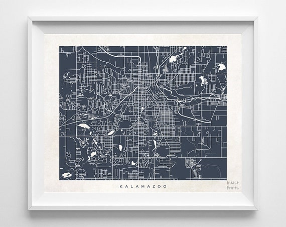 home decor stores kalamazoo mi kalamazoo map michigan print kalamazoo poster michigan 12566