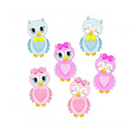 Owls clip art, cute owls clipart, scrapbook, graphic ...