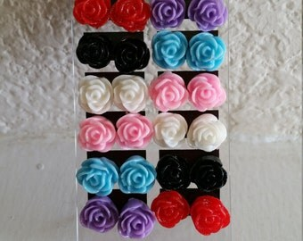 Rose Stud Earrings