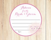 Advice for the bride and groom, wedding advice cards, guest cards
