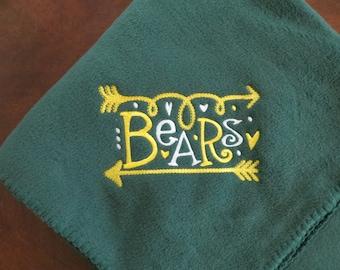 Baylor Bears Fleece Blanket, Baylor Baby Gift, Baylor Graduation Gift, Baylor University Gift, Bears Blanket