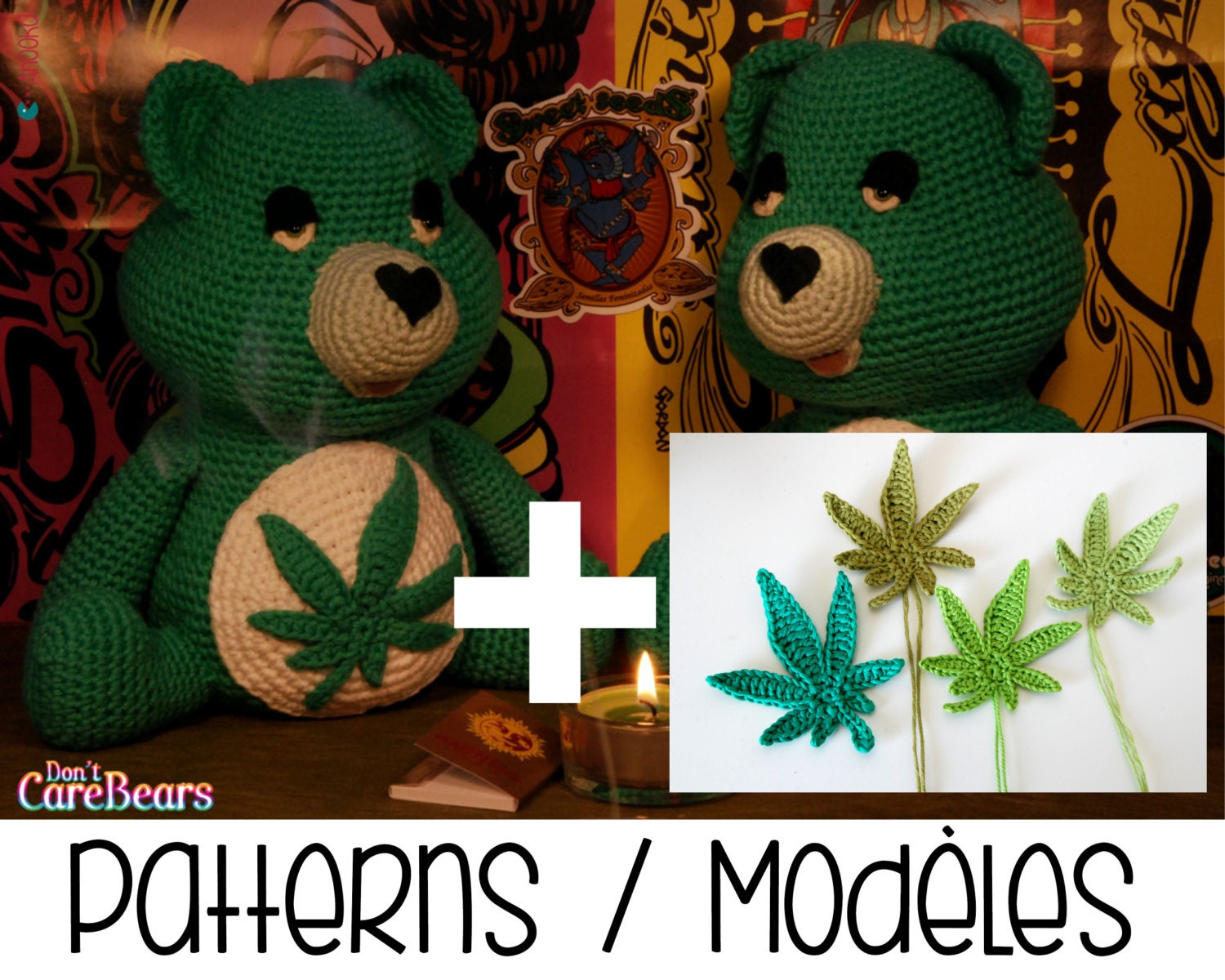 Pdf pattern dont care bear amigurumi plush marijuana zoom bankloansurffo Choice Image