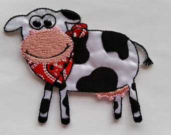 Cow Farm Animal applique iron on patch
