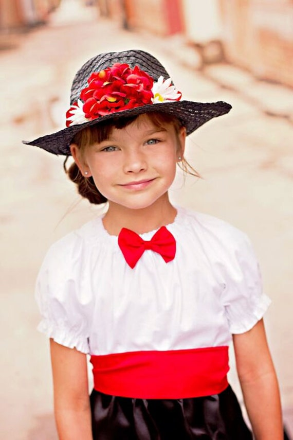 Vintage Style Children's Clothing: Girls, Boys, Baby, Toddler Boutique custom handmade pageant girls Mary Poppins inspired dress  Mary Poppins Dress Mary Poppins Costume victorian nanny dress and hat $54.00 AT vintagedancer.com