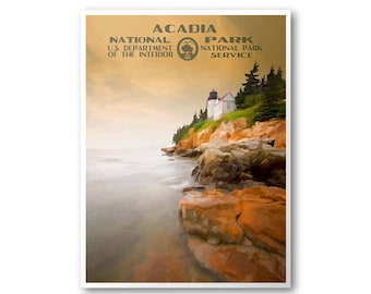 Acadia National Park Travel Poster