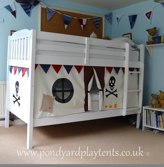 pirate ship bunk bed tent create a secret by pondyardplaytents. Black Bedroom Furniture Sets. Home Design Ideas