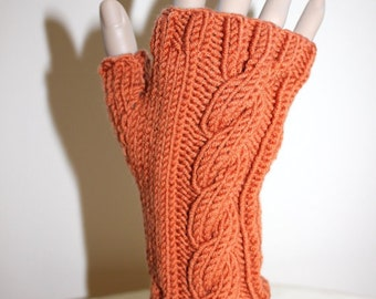Knitting Pattern: Cabled Fingerless Gloves (0017) - Permission to Sell Finished Products