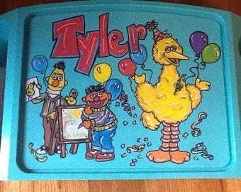 Sesame Street activity tray, activity tray, kids tv tray, sesame tv tray, kids game tray, tv trays, children's game tray, children's tv tray