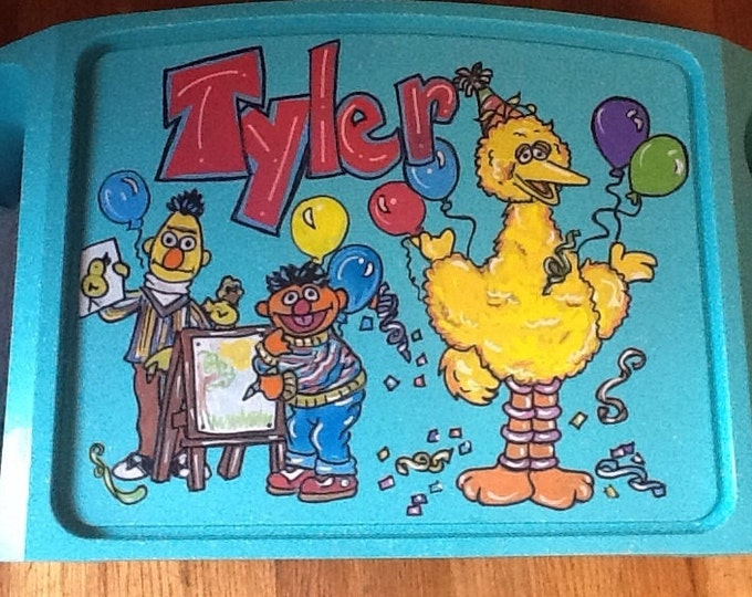 Sesame Street activity tray, activity tray, kids tv tray, sesame tv tray, kids game tray, tv trays, children's game tray, children's tv tray
