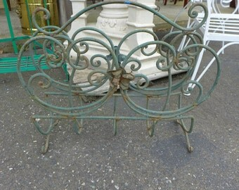 SALE! Org 85.00 French Style Wrought Iron Magazine Rack