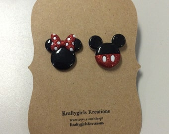 Mickey & Minnie earrings