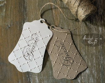 Embossed gift tags - set of 10