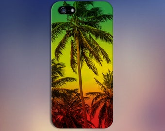 Rasta Jamaican Palm Trees Red Yellow Green Case, iPhone 7, iPhone 7 Plus, Tough iPhone Case Galaxy s8 Samsung Galaxy Case Note 5 CASE ESCAPE