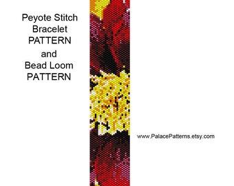 Peyote Stitch and Bead Loom Bracelet Pattern - The Center