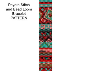 Bead Loom or Peyote Stitch Bracelet Pattern - Tribal4