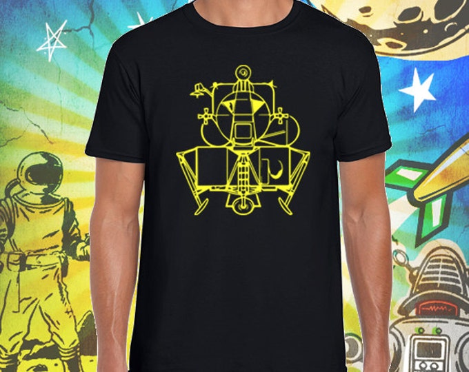 Apollo Lunar Module / Men's Black T-Shirt