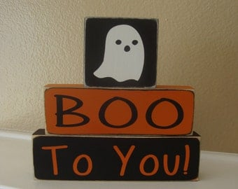 Halloween Wood Block Stacker, BOO To You!,