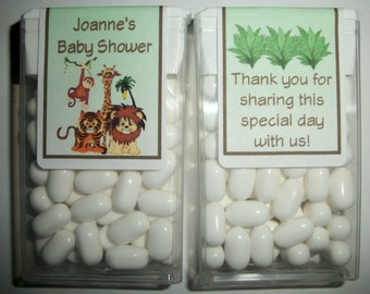 28 Jungle Safari Baby Shower Favors Tic Tac Labels ~ FREE SHIPPING