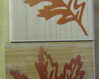 oak & maple leaf stamps