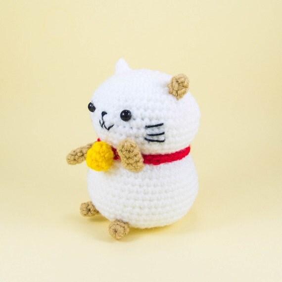 Maneki Neko Amigurumi Patron : Lucky Cat Crochet Pattern PDF -- DIY Maneki neko Amigurumi ...