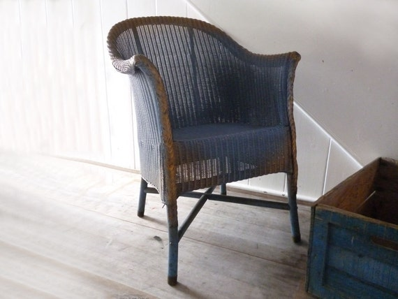 lloyd loom chair 1930s lloyd loom vintage by monsieurrenardsattic. Black Bedroom Furniture Sets. Home Design Ideas