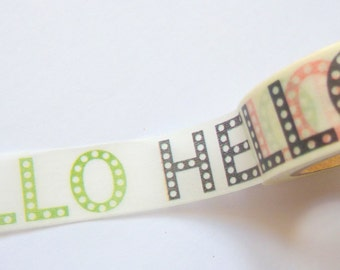 HELLO Washi Tape 15mm x 10m