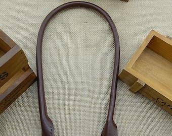 1 Pair / 2pcs 19.7 inch Round Ear Genuine Leather Handles Shoulder Bag Handles Hand Strap