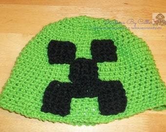 Minecraft Creeper, Costume, Photo Prop, Game, Character Inspired, Crochet