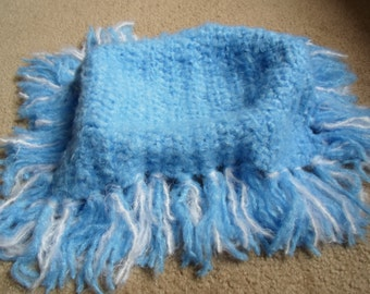 Very Beautiful and Soft Crocheted Photography Prop Blanket/Wrap . Available in Sizes: Small, Medium, Large.