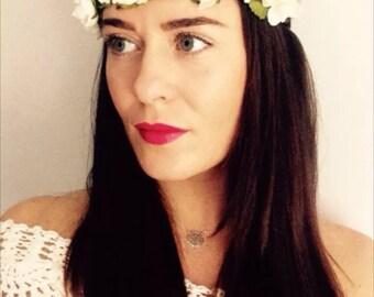 Floral flower halo headband crown boho headdress