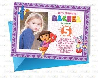 Digital Printable Dora Invitation. Dora Invitation. Dora Birthday Party
