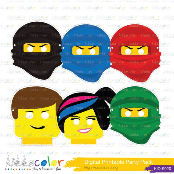 Selective image pertaining to ninjago mask printable