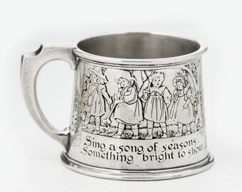Kerr sterling childs mug with nursery rhyme decoration