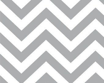 Half Moon Modern Zig Zag by Moda Grey by the yard 32216 21