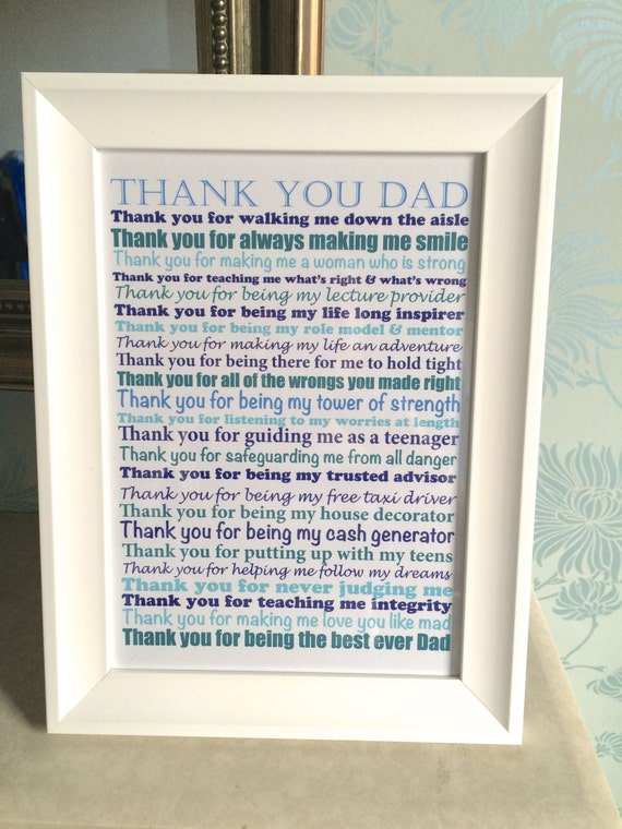Thank You Wedding Gift Poem : Wedding day poem gift / Father of the Bride Gift / Thank you gift ...
