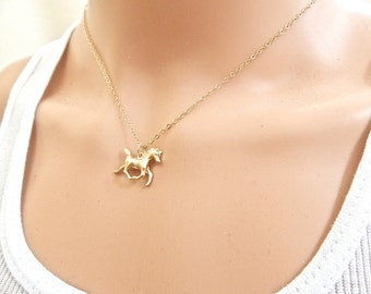 Horse Necklace, Gift for Her