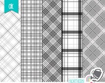Plaid Layered Photoshop Templates – plaid paper templates for scrapbook kit design – layered psd templates – 4-5 layers - commercial use