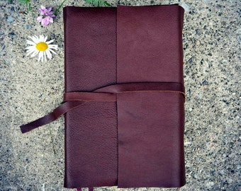 Sale! 15% off! Dark Brown Soft Leather Bible Cover // Journal Cover // Book Cover
