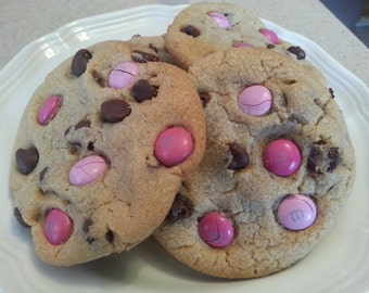 Breast Cancer awareness Chocolate Chip Cookies Dozen Gourmet