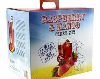 Raspberry & Mango  Craft Cider - 40 pint / 23L homebrew cider making Gluten Free