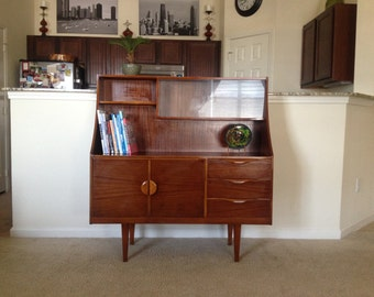 charming 1950's mid-century Danish Modern Highboard
