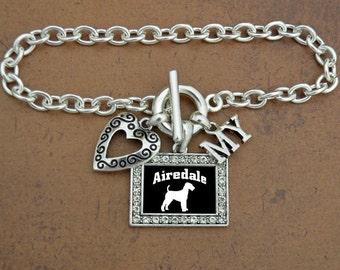 Heart My Airedale Bracelet