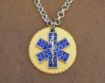 EMT Gold Disk Necklace