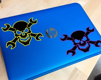 Skull window decal and more