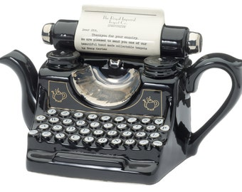 Bespoke Message Typewriter Teapot