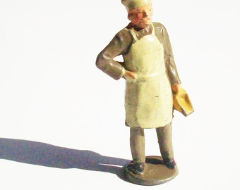 Antique Toy Figure from a Toy Soldier Company / Baker with scoop / Great gift for the cook