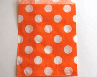 Orange Polka Dot Favor Bags