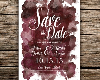 Water Color Save the Date / Printable DIY invite